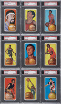 Basketball Cards:Lots, 1970-71 Topps Basketball PSA-Graded NM 7 Collection (9)....
