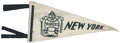 Baseball Collectibles:Others, Vintage ('40's?) New York Yankees Pennant. ...