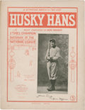 """Baseball Collectibles:Others, 1904 """"Husky Hans"""" Sheet Music Picturing Honus Wagner...."""