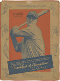 Baseball Cards:Singles (1930-1939), 1936 Wheaties-Series 4 Lou Gehrig - Full Size Panel....