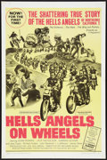 "Movie Posters:Cult Classic, Hells Angels on Wheels (U.S. Films Inc., 1967). One Sheet (27"" X41""). Cult Classic.. ..."