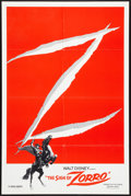 "Movie Posters:Adventure, The Sign of Zorro (Buena Vista, R-1978). One Sheet (27"" X 41"").Adventure.. ..."