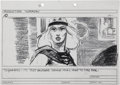 Original Comic Art:Miscellaneous, Mike Ploog Supergirl Storyboard Drawing Original Art (WarnerBros., 1984)....