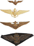 Military & Patriotic:WWI, World War I and Post War: Four United States Navy Pilot Wings....(Total: 4 Items)