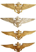 Military & Patriotic:WWI, Post World War I: Four United States Navy Wings, Circa 1920s....(Total: 4 Items)