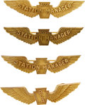 Transportation:Aviation, Civil Aviation: Four Pennsylvania Central Airline Gilt Wings, Circa1930s.... (Total: 2 Items)
