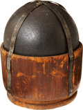 Military & Patriotic:Civil War, U.S. Nine Pound Spherical Solid Shot Dated 1834 on the Original Cup Base Wooden Sabot....