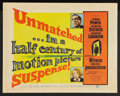 """Movie Posters:Mystery, Witness for the Prosecution (United Artists, 1958). Half Sheet (22""""X 28"""") Style B. Mystery.. ..."""