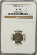 Seated Half Dimes: , 1841-O H10C AU55 NGC. NGC Census: (8/20). PCGS Population (5/15).Mintage: 815,000. Numismedia Wsl. Price for problem free ...