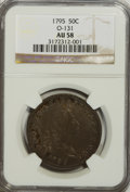 Early Half Dollars, 1795 50C 2 Leaves AU58 NGC. O-131. NGC Census: (43/35). PCGSPopulation (12/22). Mintage: 299,680. Numismedia Wsl. Price fo...