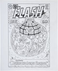 Original Comic Art:Covers, Fred Hembeck Flash #122 Cover Re-Creation Original Art(2000)....