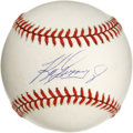 Autographs:Baseballs, Ken Griffey Jr. Single Signed Baseball. One of the premier and mostpopular outfielders of the current era, Ken Griffey Jr....