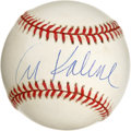 Autographs:Baseballs, Al Kaline Single Signed Baseball. We offer this pristine (10/10)signature of one of the members of the exclusive 3000 hit ...
