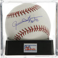 "Autographs:Baseballs, Rollie Fingers ""HOF 92"" Single Signed Baseball, PSA Mint+ 9.5. Hallof Fame closer Rollie Fingers makes note of his inducti..."