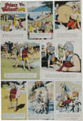 Original Comic Art:Miscellaneous, Hal Foster - Prince Valiant Sunday Comic Strip Color Proof, dated12-20-64 (King Features, 1964)....