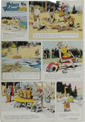 Original Comic Art:Miscellaneous, Hal Foster - Prince Valiant Sunday Comic Strip Color Proof, dated12-13-64 (King Features, 1964). ...