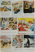 Original Comic Art:Miscellaneous, Hal Foster - Prince Valiant Sunday Comic Strip Color Proof, dated1-24-65 (King Features, 1965). ...