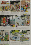 Original Comic Art:Miscellaneous, Hal Foster - Prince Valiant Sunday Comic Strip Color Proof, dated11-8-64 (King Features, 1964). ...