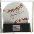 Autographs:Baseballs, Andruw Jones Single Signed Baseball, PSA Mint 9. Atlanta Bravesveteran slugger Andruw Jones has provided the excellent sing...