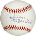 Autographs:Baseballs, Juan Marichal Single Signed Baseball. We offer a single signed ONL(White) baseball from the Dominican Dandy. The beautiful...