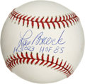 Autographs:Baseballs, Lou Brock Single Signed Baseball. Hall of Famer Lou Brock pennedthis gorgeous signature on this ONL (Coleman) baseball squa...