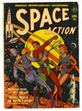 Golden Age (1938-1955):Science Fiction, Space Action #1 (Ace, 1952) Condition: GD/VG....