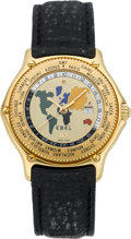 """Timepieces:Wristwatch, Ebel """"Voyager"""" 18k Limited Edition World Time Wristwatch, circa 1990's. ..."""