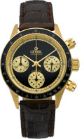 Timepieces:Wristwatch, Gevril Limited Edition Gold Automatic Chronograph No. 048/100,circa 2000. ...