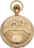 Timepieces:Pocket (pre 1900) , Waltham Gold 6 Size Hunters Case Watch, circa 1891. ...