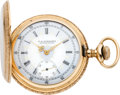Timepieces:Pocket (post 1900), Elgin Fancy Dial 16 Size Gold Hunters Case, circa 1902. ...