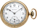 Timepieces:Pocket (post 1900), Burlington 21 Jewel Watch with Chain & Fob, circa 1917. ...