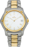 Timepieces:Wristwatch, Ebel Men's Steel & Gold 1911 Wristwatch, modern. ...
