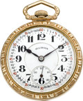 Timepieces:Pocket (post 1900), Illinois Sixty Hour Bunn Special With Montgomery Dial, circa 1928....