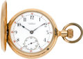 Timepieces:Pocket (pre 1900) , Vacheron & Constantin Gold Pocket Watch For Caldwell & Co.,circa 1889. ...