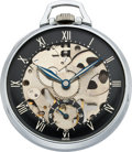 "Timepieces:Pocket (post 1900), Girard Perregaux ""Shell"" Skeleton Pocket Watch, circa 1950's. ..."