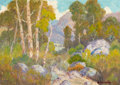 Texas, PETER LANZ HOHNSTEDT (American, 1872-1957). HillsideLandscape. Oil on canvas. 17 x 24 inches (43.2 x 61.0 cm).Signed l...