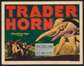 "Movie Posters:Adventure, Trader Horn (MGM, R-1938). Title Lobby Card (11"" X 14"").Adventure.. ..."