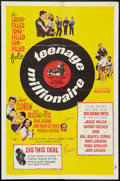 "Movie Posters:Rock and Roll, Teenage Millionaire Lot (United Artists, 1961). One Sheet (27"" X41"") and Lobby Cards (2) (11"" X 14""). Rock and Roll.. ... (Total: 3Items)"