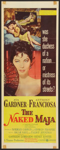 "Movie Posters:Romance, The Naked Maja (United Artists, 1959). Insert (14"" X 36"").Romance.. ..."