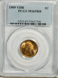 Lincoln Cents: , 1909 VDB 1C MS65 Red and Brown PCGS. PCGS Population (674/76). Mintage: 27,995,000. Numismedia Wsl. Pric...