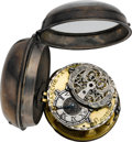 Timepieces:Pocket (pre 1900) , Canche (Saumur) Interesting Late 17th Century Verge Fusee. ...