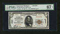 National Bank Notes:Michigan, Ironwood, MI - $5 1929 Ty. 1 The Merchants & Miners NB Ch. # 12387. ...
