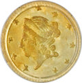 California Fractional Gold: , 1871 50C Liberty Round 50 Cents, BG-1011, R.2, MS65 PCGS. PCGSPopulation (24/14). NGC Census: (11/8). (#10840)...