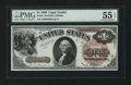Fr. 28 $1 1880 Legal Tender PMG About Uncirculated 55 EPQ