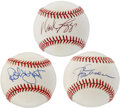 Autographs:Baseballs, Hall of Famers Signed Baseballs Lot of 3....
