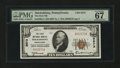 National Bank Notes:Pennsylvania, Shickshinny, PA - $10 1929 Ty. 1 The First NB Ch. # 5573. ...