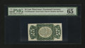 Fractional Currency:Third Issue, Fr. 1294SP 25¢ Third Issue Narrow Margin Back PMG Gem Uncirculated 65 EPQ....