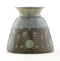 Ceramics & Porcelain, WILLEM BROUWER. An Earthenware Vase, 1909. Marks: impressed factory mark, incised date and model no. 12. 6-1/2 inches (1...