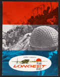 "Movie Posters:War, The Longest Day (20th Century Fox, 1962). Program (Multiple Pages,8.5"" X 11.5""). War.. ..."