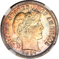 Barber Dimes, 1897 10C MS67 NGC....
